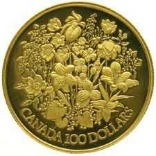 Canada - 100 Dollars 1977 'Bouquet of flowers' - gold