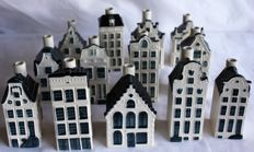 Lot with 13 KLM Delft blue Business Class houses