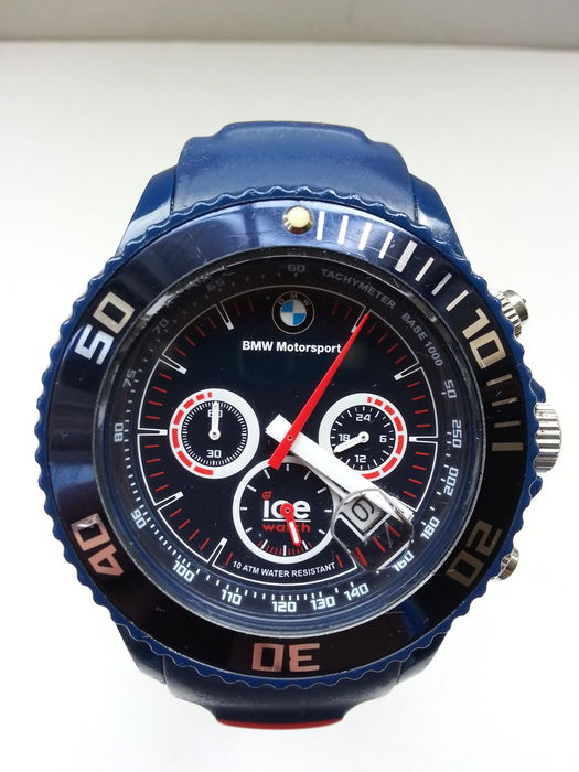 ice watch bmw motorsport blue big chrono men s. Black Bedroom Furniture Sets. Home Design Ideas