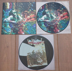 Led Zeppelin- Great lot of 2 special releases: Kashmir picture disc lp (Special limited edition for Led Zeppelin Fan Club Mexico) & Led Zeppelin II picture disc lp
