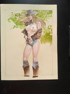 Altuna, Horacio - original drawing - Cow-girl - Playboy