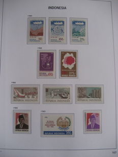 Indonesia 1985/2013 – Complete collection of postage stamps in 3 Davo LX albums with slipcases