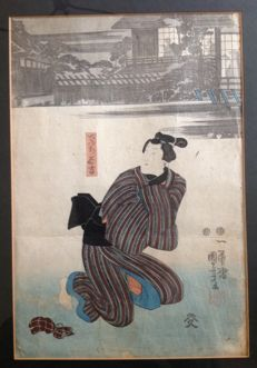 Woodblock print by Utagawa Kuniyoshi (1797-1861) -Japan – 1848