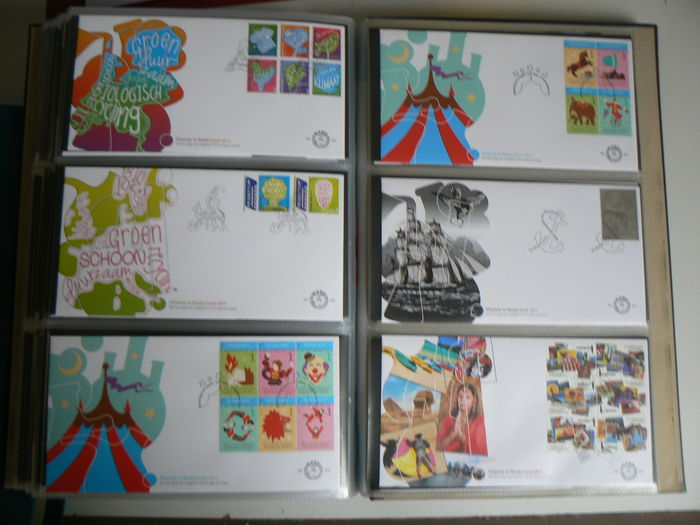 The Netherlands 2007/2011 – Collection FDCs in album