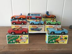 8 Tin cars new in box, Made in China 1960s