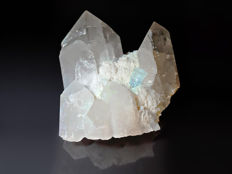 Huge aquamarine, quartz and albite cluster - 15cm x 10cm -  1058g