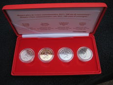 Monaco - 2 Euro 2012 'Lucien' (4 different) in case - ennobled