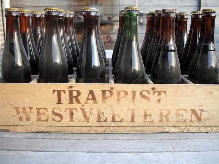 Crate with bottles of trappist Westvleteren 12 (dark) 1995