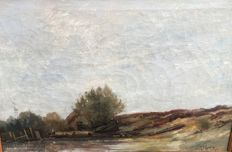 Antoon Markus (1870-1955) - Hollands landschap