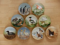 Danbury Mint collection - Waterbirds - 9 plates