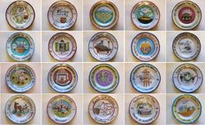 Ceramica Solimene - Vietri - Collection of 20 Buon Ricordo dishes - 20th anniversary dishes - year 1984
