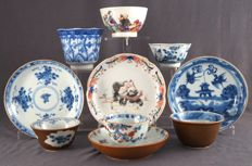 Collection of Ten Cups and Saucers – China – 18th and 19th century