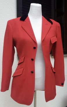 JOSEPH -Fashion-  Red cotton long jacket -Made in France