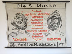S-Maske German instruction school poster 1942. Auer Berlin