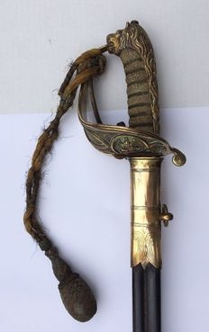 England Navy officer's sword around 1890