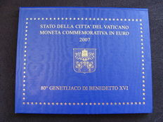"Vatican - 2 Euro coin 2007 ""Pope Benedict 80 years"""