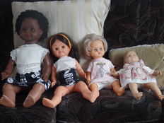 Four beautiful dolls - dark pop L.B 70/20, doll L.B. 16/50, BELLA and Reborn doll LB 18.