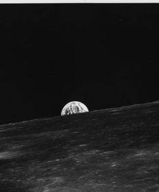 NASA - APOLLO 10 - View of Earth-rise from Lunar Orbit -  1969