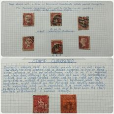 World - collection on blank pages, Stamp curiosities 1890's/1960's -