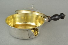 Silver pot with vermeil/silver gilt interior, Russia 18th century