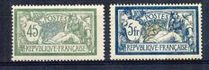 France 1900/1907 – Merson Type – Yvert no. 123 & 143