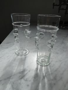 Borek Sipek - 2 Crystal beer glasses