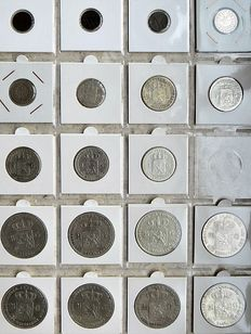 The Netherlands - ½ Cent to 2½ guilder 1841/1849 Willem II (19 pieces)
