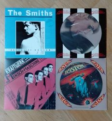 Four Rare Lp, Electro/Pop/ Rock From Years 70 To 80'S -The Smiths Hatful Of Hollow 1St Uk Press 1984 + Blondie: Parallel Lines Us Picture Disk 1978 +Kraftwrek: Die Mensch Machine Red Marbled , Unofficial Release. Boston: 1976 Flyin' Guitars Picture Disk