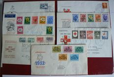 The Netherlands 1952/1953 - Selection of 7 FDC´s from no. e8 - e14