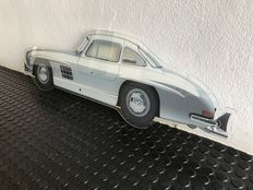 Painting on shaped plexiglass - MERCEDES 300 SL GULLWING