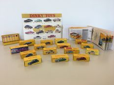 Dinky Toys-Altaya - Scale 1/43 - Lot with 15 models: Opel, Simca, Ford, Lincoln, Mercedes-Benz, Citroën, Volvo, VW, Austin Healy, Peugeot & Studenbaker