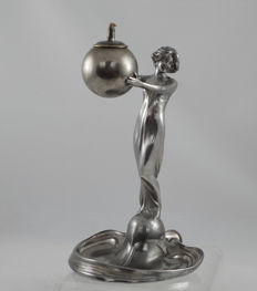 WMF - Art Nouveau silver-plated 'Cigar Lamp'