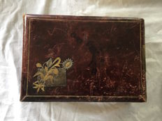 Beautiful old leather photo album, France, 19th century