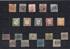 Italy, 1850–1863 – Selection of 19 stamps from Lombardy-Venetia, Sardinia and Papal States.