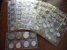France – lot of 165 coins (including 6 silvers)