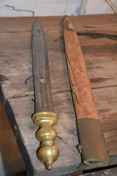 Unusual 19th century short sword, possibly Italian Gladius type