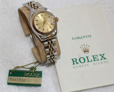 Rolex Ladies Date oyster perpetual 18k gold and stainless steel - ladies watch - 1982