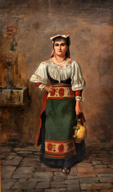 English school (2nd half of the 19th century) - Aguadora (Water carrier)