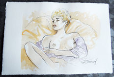 Renaud - original watercolour drawing - Jessica Blandy