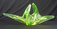Val Saint Lambert - Uranium green bowl/coupe