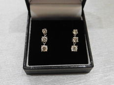 Platinum Trilogy Drop Earrings - 1.20ct