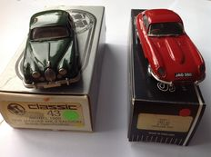 Small Wheels / Classic 43 - Scale 1/43 - Jaguar E-type FHC 1961-62 - Red & Jaguar MK2 Saloon 1959