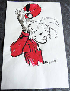 Munuera, José-Luis - Original colour drawing in ink wash - Spirou