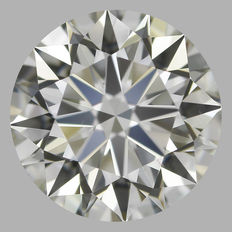 0.80 ct Round Brilliant J VS2 3EX -# 1813 Original image-10X