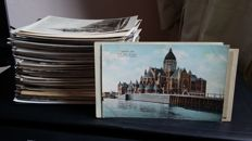Large lot with ca 250 Dutch churches 1930-1965 various places, black & white (photo) cards