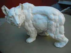 Large polar bear in ceramics