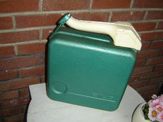 Very beautiful and intact metal 10 litres Dilo jerrycan from the 1970s.