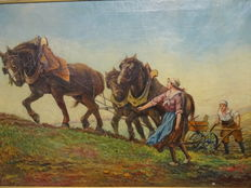 C.h.w.k. Kusters (20th century) - Farm labour.