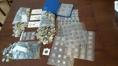 World, Italy – Lot of more than 1,900 pieces including 20 telephone tokens