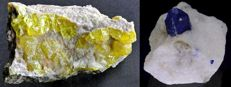 Lot - Native Sulphur - Lazurite With Calcite - 245 gr (2)